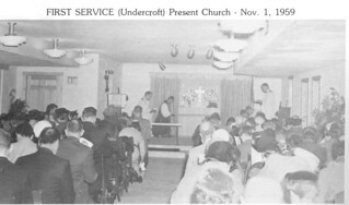 First Service (Undercroft) New Church Nov. 1, 1959