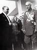 Mustafa Kemal Ataturk greets the Shah of Persia Reza Pahlavi, 6/27/1934, Ankara