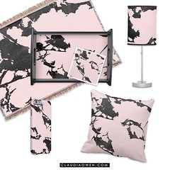 This is part of my Black and Pink Modern Marble collection I did for @zazzle Pink and black go so well together #interiordesign #homedecor #homewares