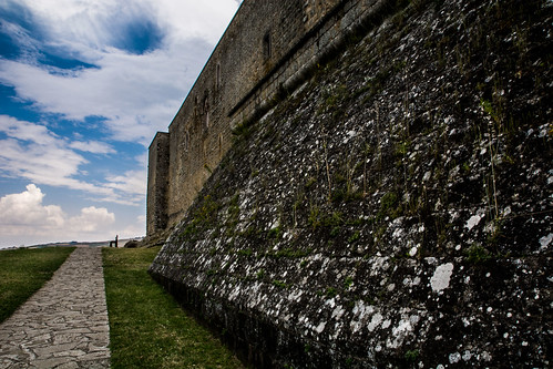 Bench, Castello di Lagopesole, Lagopesole, Basilicata, Italy