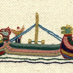 Berthed at Riccall, by Stamford Bridge Tapestry Project