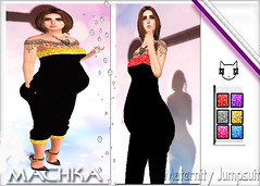 ~ϻ:MERY Maternity Jumpsuit 6 Colors HUD and Heels Clutch Necklace
