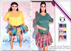 ~ϻ:Violet Lace Loose Dress 6 Color Hud
