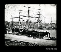 The ELLEN STUART at Circular Quay with SOBRAON in background January 1871