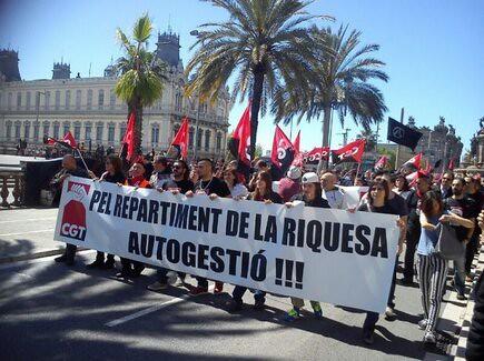 pel repartiment de la riquesa CGT a Barcelona #1maig2013 #1maigCGT