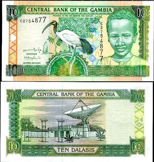 10 Dalasis Gambia 2001, Pick 21