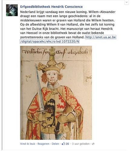 Publiek Centraal Facebook Willem-Alexander