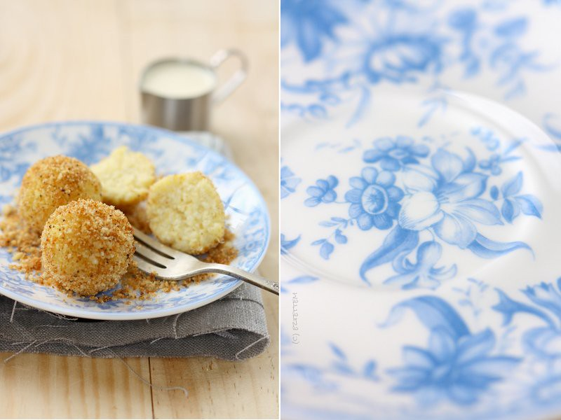 curd cheese dumpling covered with breadcrumbs