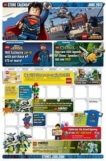 LEGO June 2013 Store Calendar