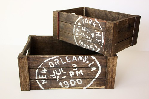 DIY Vintage Wooden Crates - Life at Cloverhill