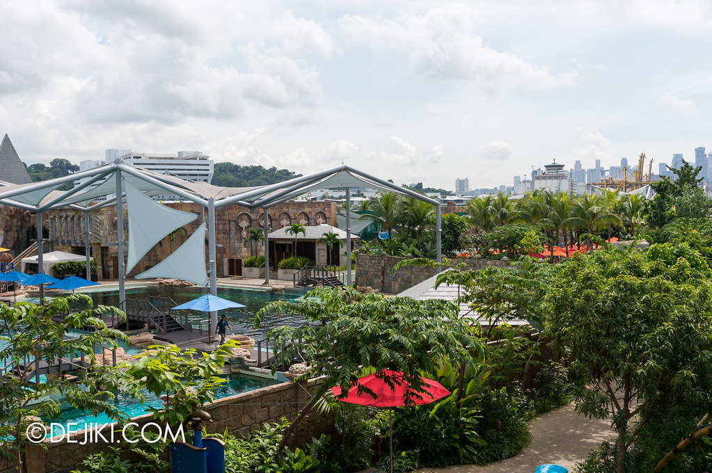Marine Life Park Singapore - Adventure Cove Waterpark - Dolphin Island overview