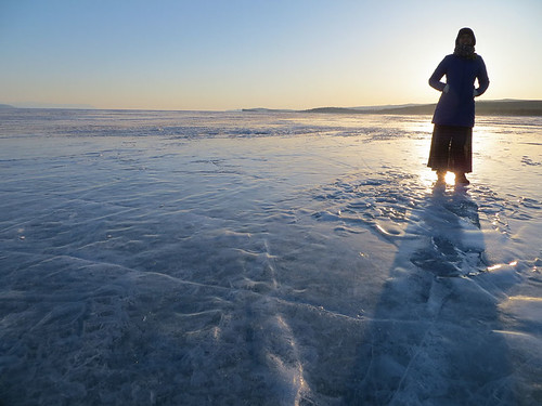 ice sunrise russia lakebaikal