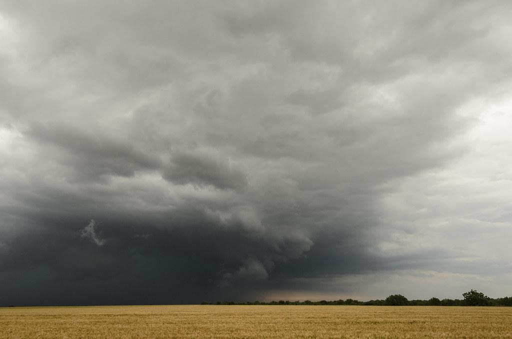 storm chasing near Moore Oklahoma