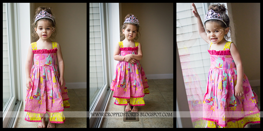 TODDLER IN DRESS WITH TIARA
