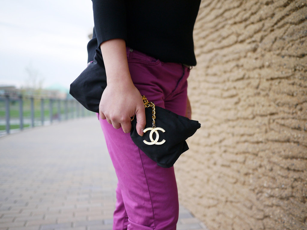 chanel clutch DIY - purple 7fam - dries van noten pumps7