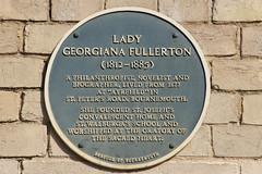 Photo of Georgiana Fullerton blue plaque
