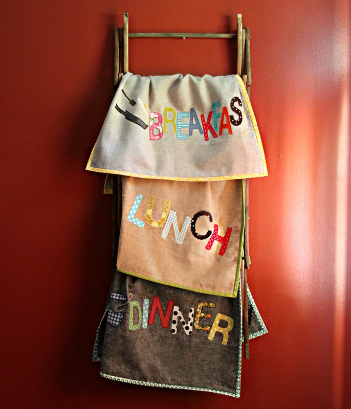 Breakfast, Lunch, & Dinner Towels from Patchowrk Please!