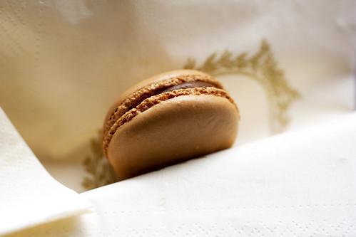 salted caramel macaron @ laduree