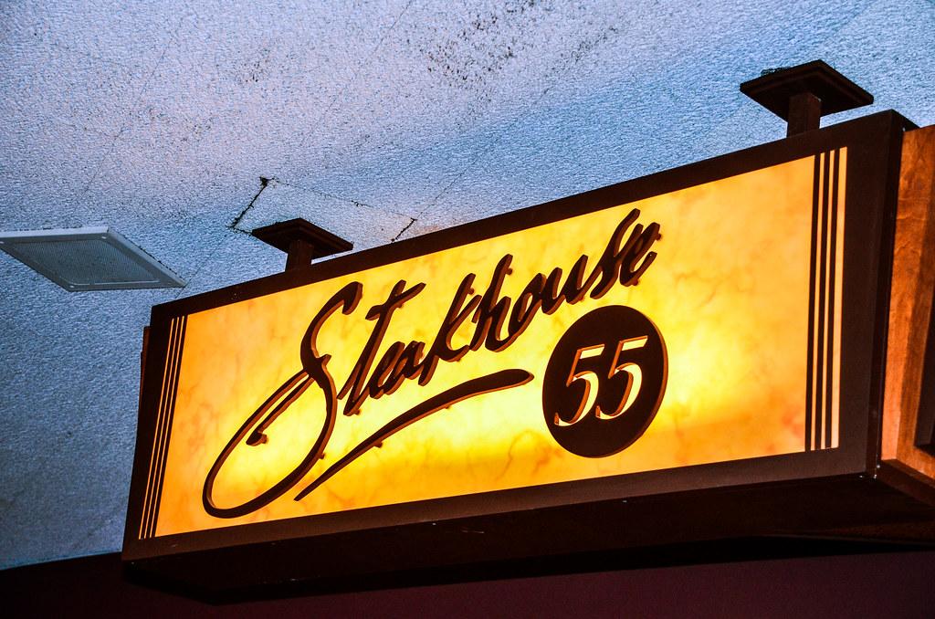 Steakhouse 55 sign