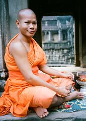 Monk at Angkor Wat Cambodia