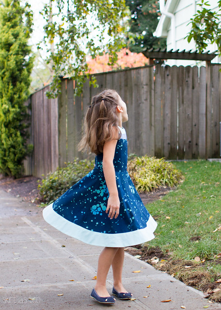 banded blue building block dress