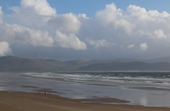 22nd September 2016. Dingle Bay and Inch Strand from Ardroe, Dingle Peninsula, County Kerry, Ireland.