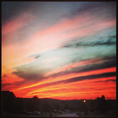 Fiery sunset.