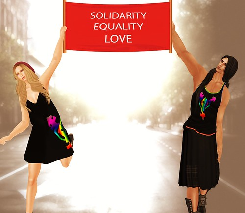 Solidarity-Equality-Love by Photos Nikolaidis