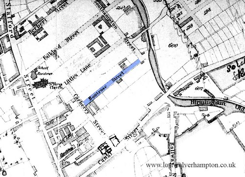 The 1842 Tithe map shows early building on Montrose Street.