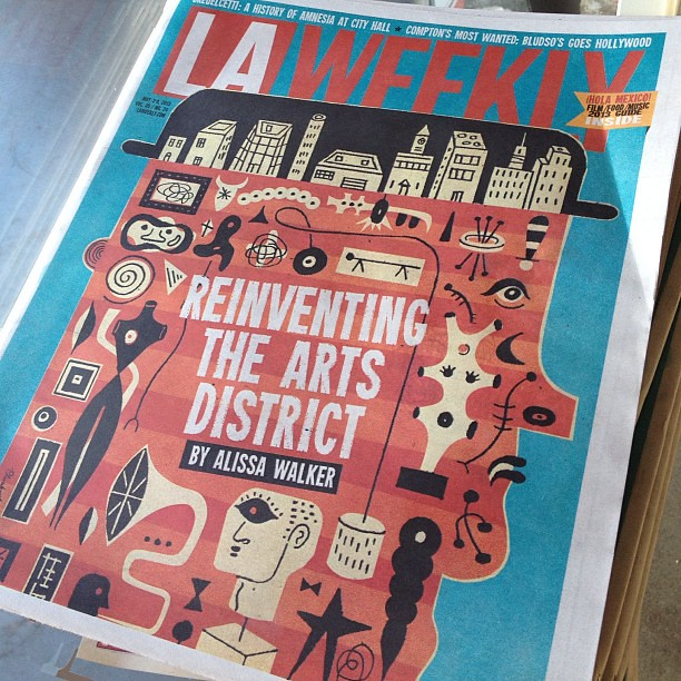My first cover story for the @laweekly, on new development in the Arts District.
