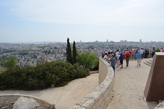 Looking at the city of Jerusalem