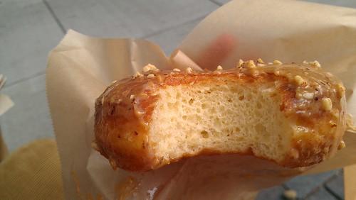 Dulce de leche hazelnut donut, Blue Star Donuts