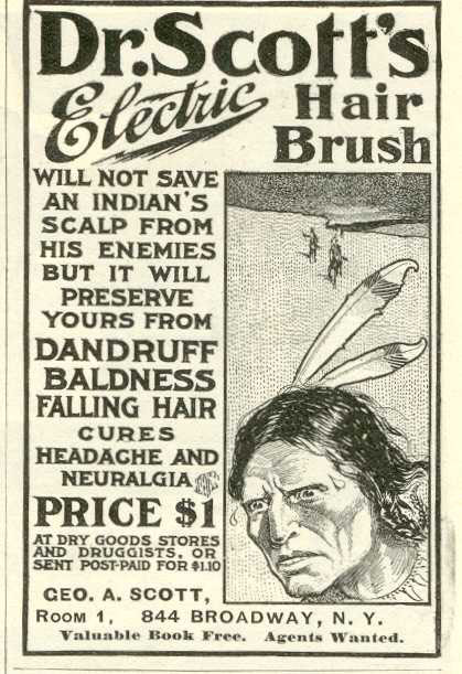 1899 Electric Hairbrush Ad