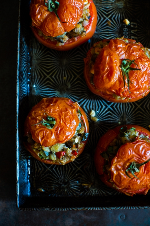 Stuffed Tomatoes _ Baking dish