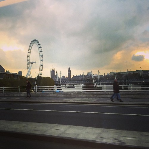 Crazy light coming over Waterloo bridge this afternoon #latergram