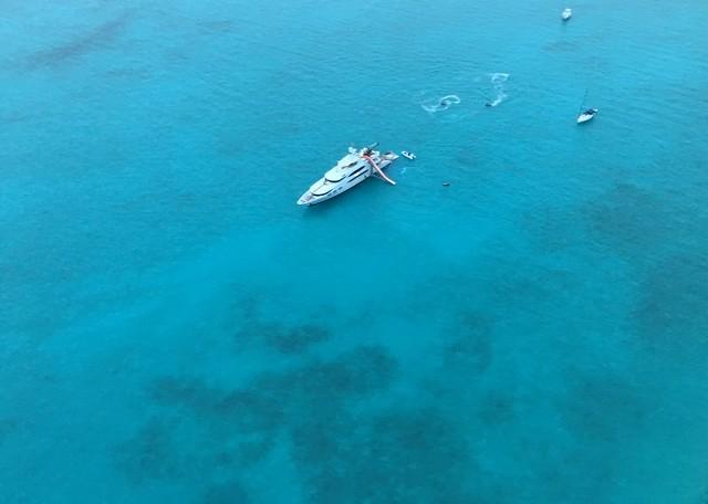 Minimalist yacht shot-Northern Exumas