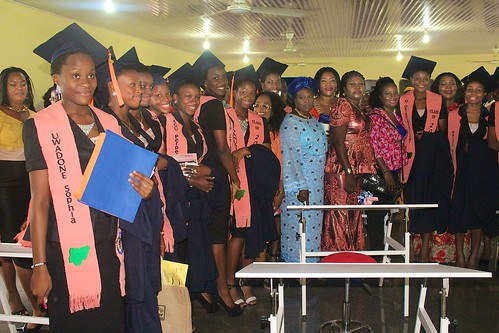 Graduates and their parents at the 2016 graduation at Louisville Girls Secondary School, Abuja