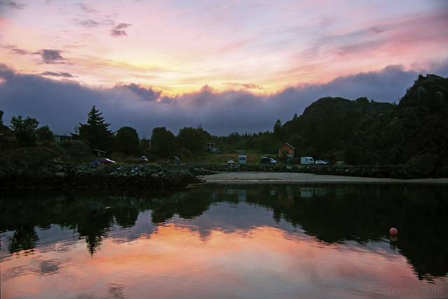 As dawn reaches the Lofoten islands