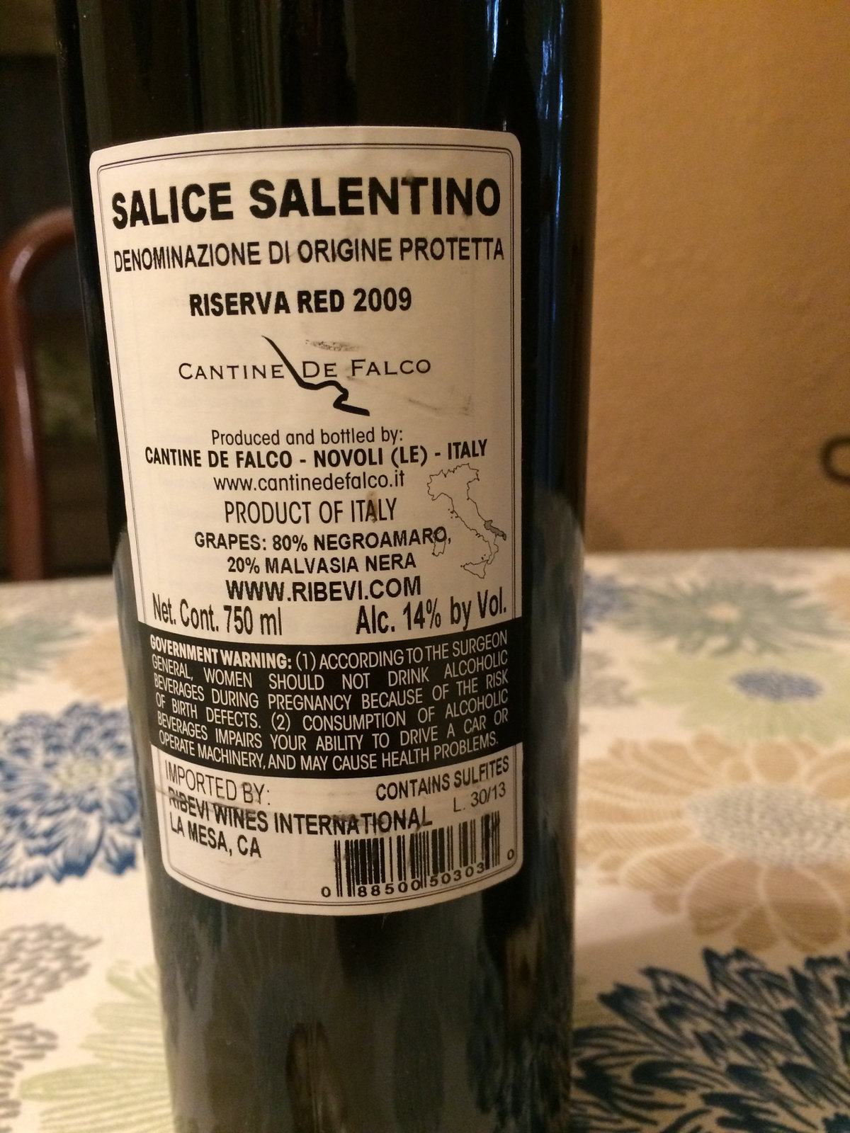 Salice Salentino Red Wine 4