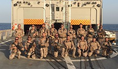 Spanish marines aboard ESPS Santa Maria ready for training