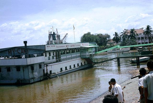 Floating restaurant in Saigon - Photo by Jordan, 7/65-3/66