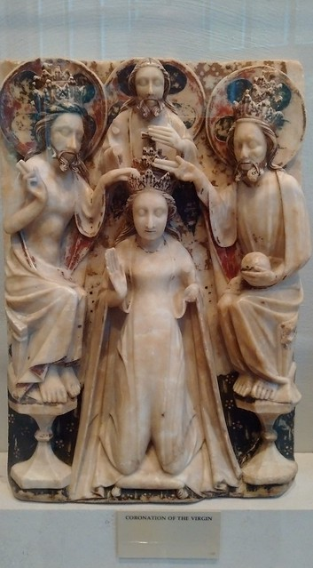 English alabaster - Coronation of the Blessed Virgin Mary