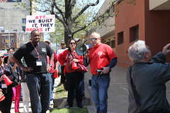 CWA members protest the closing of AT&T call centers in Pittsburgh.