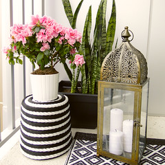 Striped Plant Stand for Home Depot
