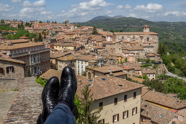 Perugia, Italy - Traveling Boots