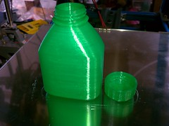 bottle, green, plastic bottle,