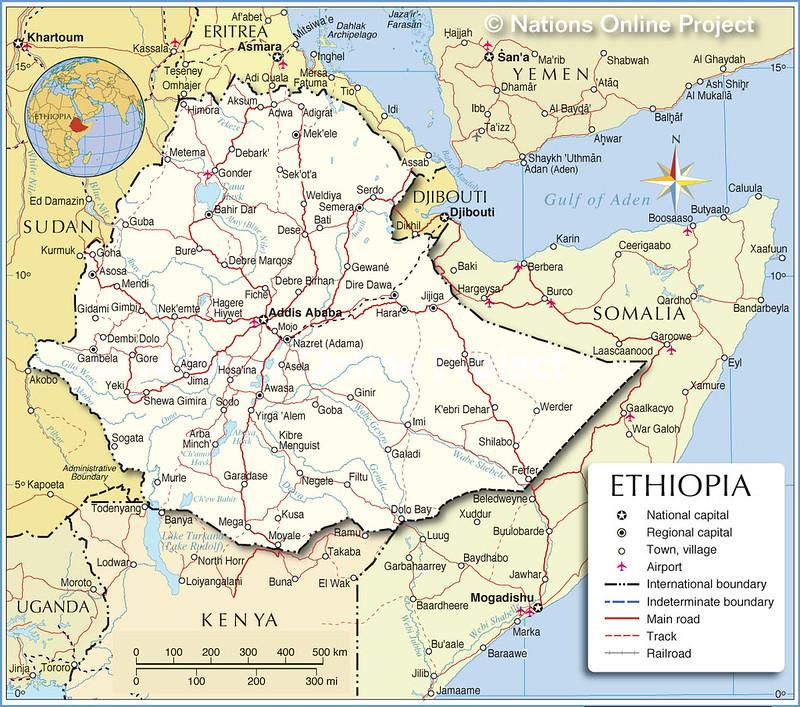 Mapa da Etiopia