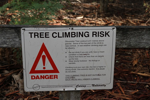 Pemberton - Gloucester Tree - Cautionary Sign