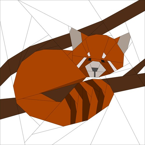 Red Panda Pattern - Forest QAL