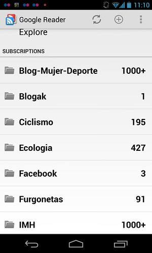 google reader en mi movil